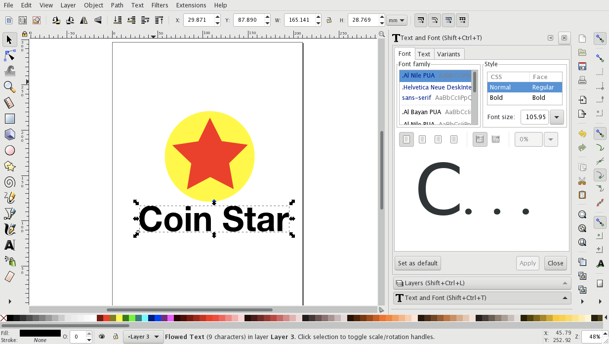 Graphic design software for logos