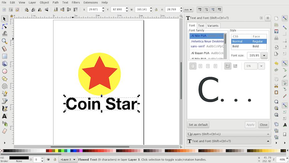 Graphic design software for logos