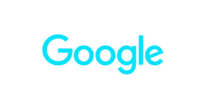 Screenshot of blue Google logo