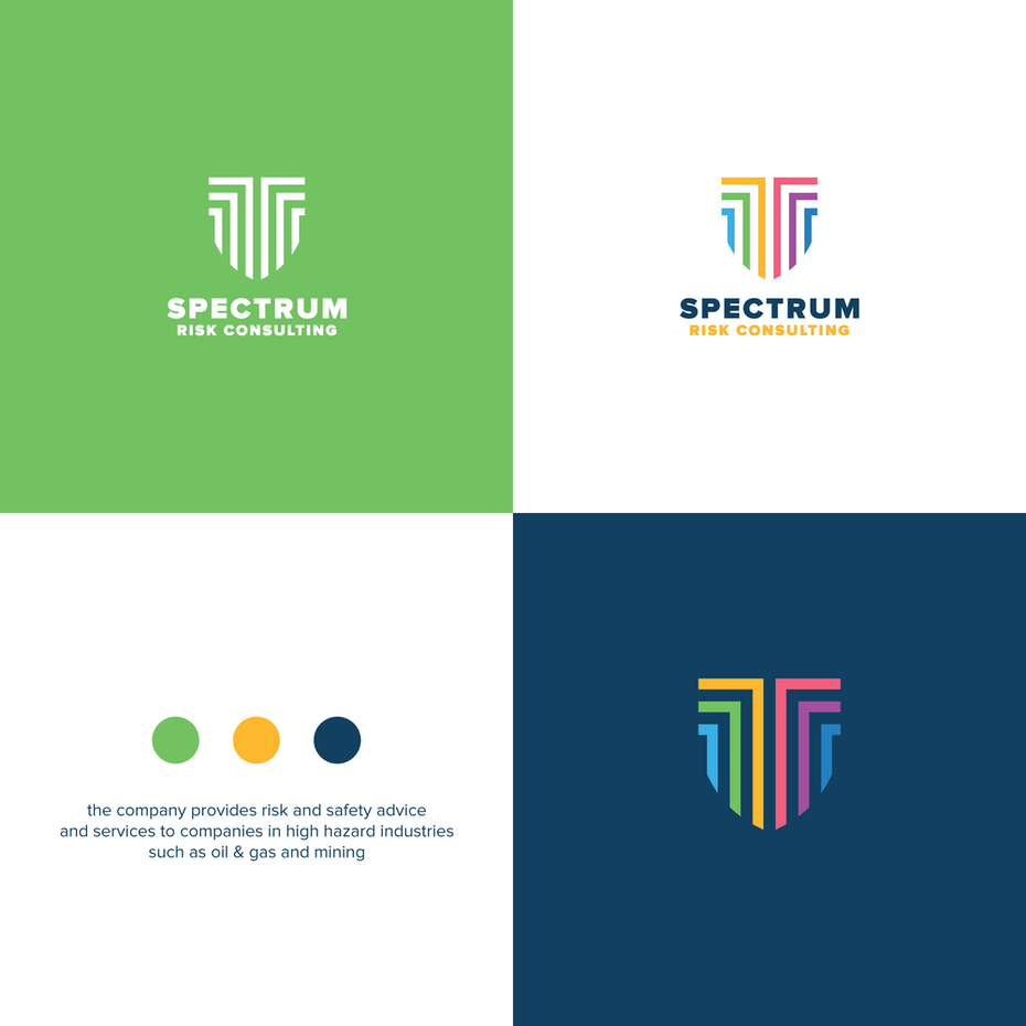 logo over various color backgrounds