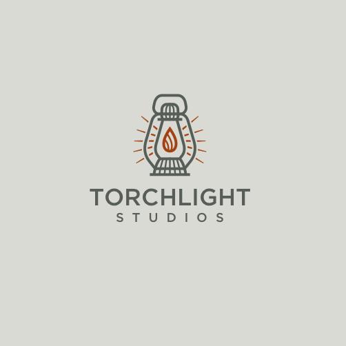 Monoline video game logo design