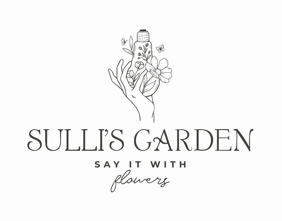 Logo design for a florist that mixes three different fonts