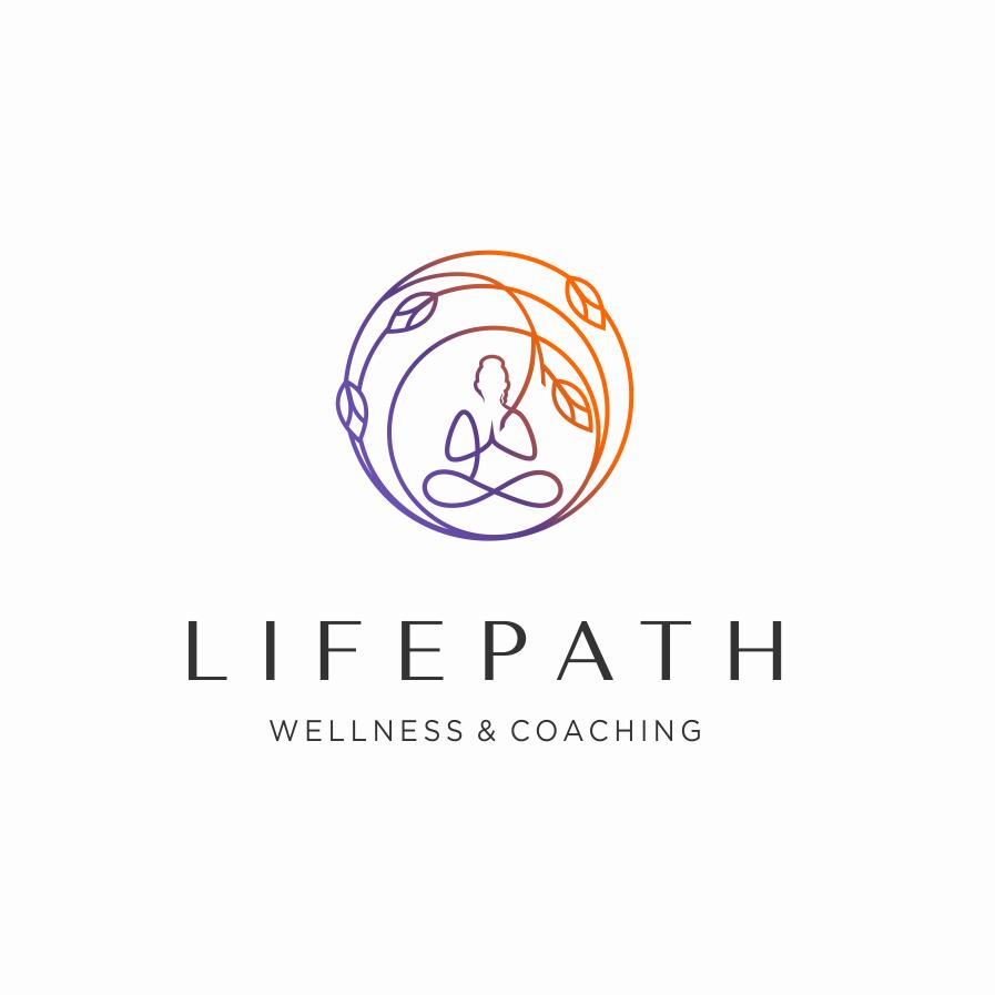 Gradient yoga logo design