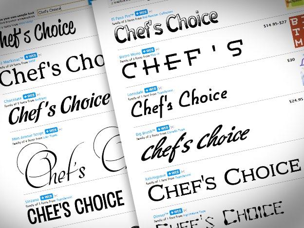 フォント選択ができるツール