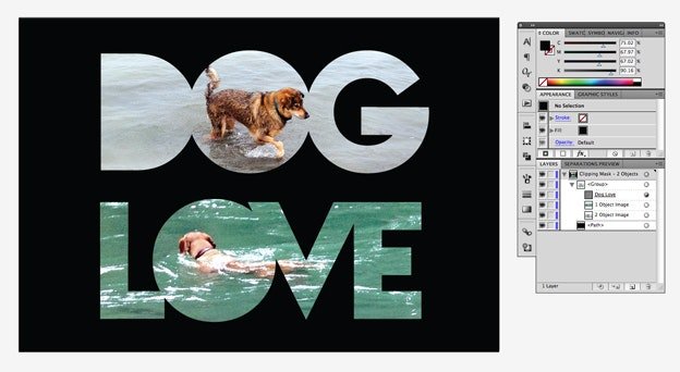 Black Background - Dog Love