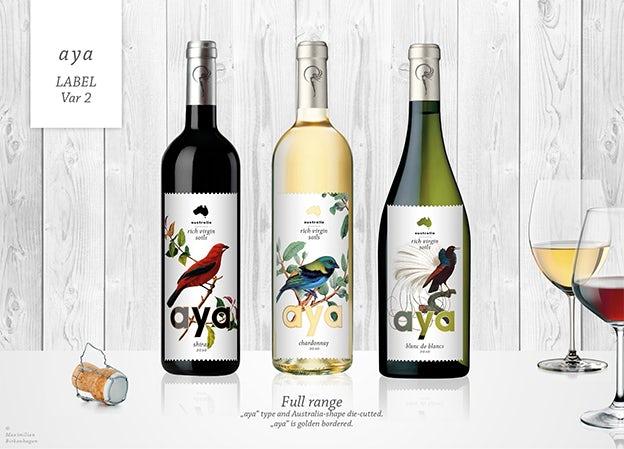 vino beautiful and unique wine label design designer blog