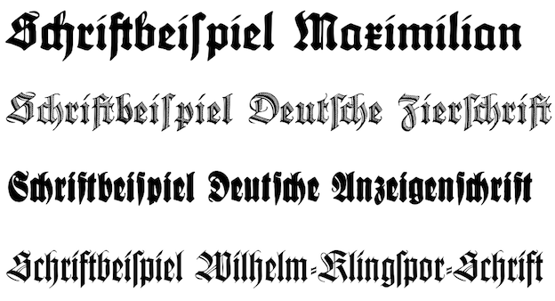Blackletter typeface