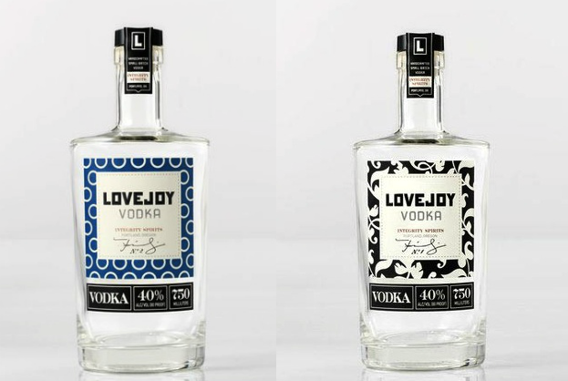 Liquor label design: Lovejoy