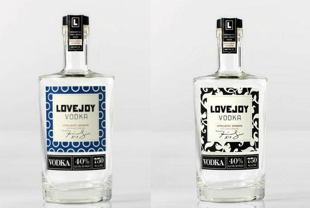 Liquor label design: Lovejoy