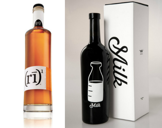 Liquor label design: Silk