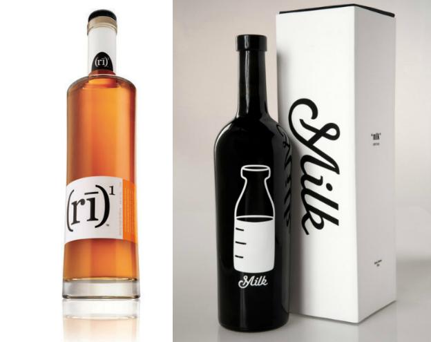 Liquor label design: Silk