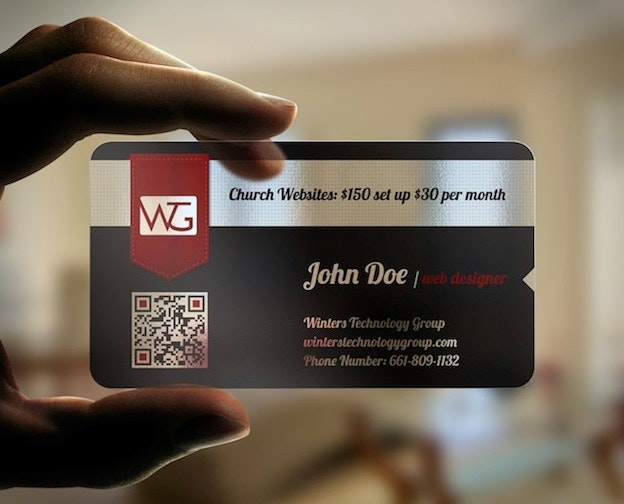 Winters Technology Group Business Card Design