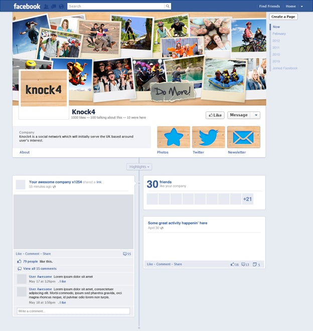 Knock4 Facebook Page design by arditasari