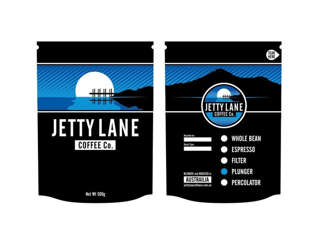 Jettly Lane Coffee Packaging by jacobparr