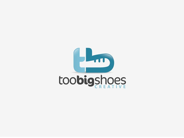 too big shoes logo by roihim