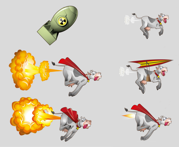 Mobile Game Character Design by running with joy
