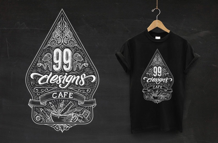 99designs cafe design
