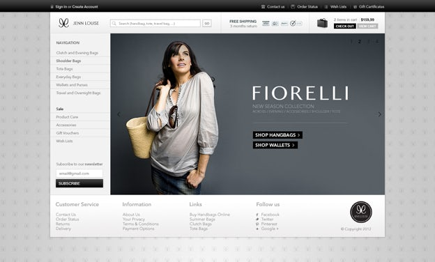 Luxury Fashion Website Design