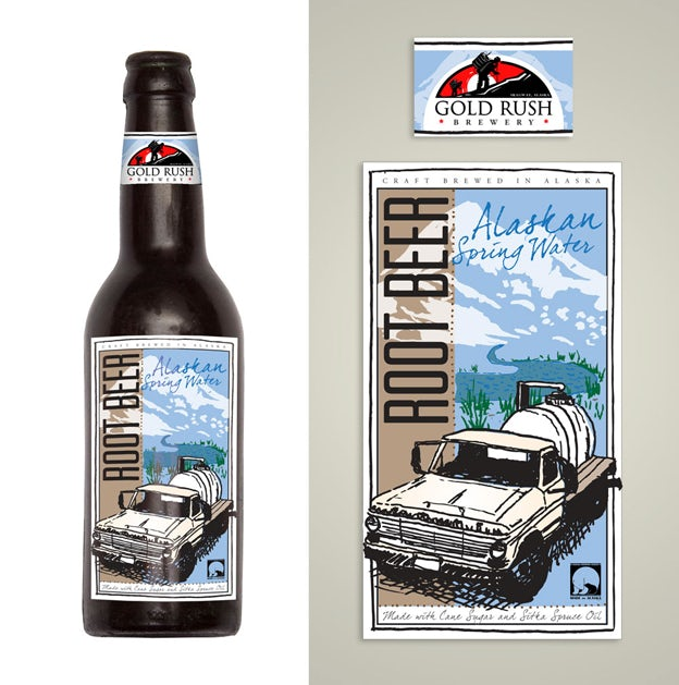 Rootbeer packaging design