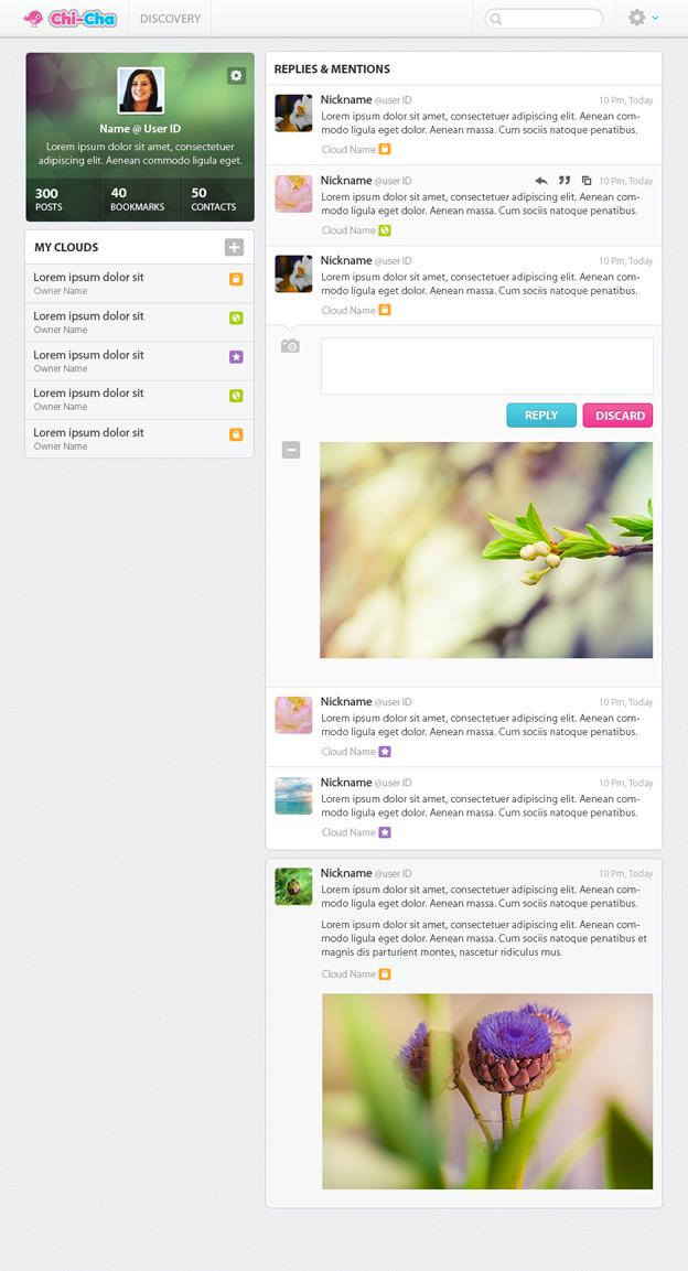 Chi-Cha website design