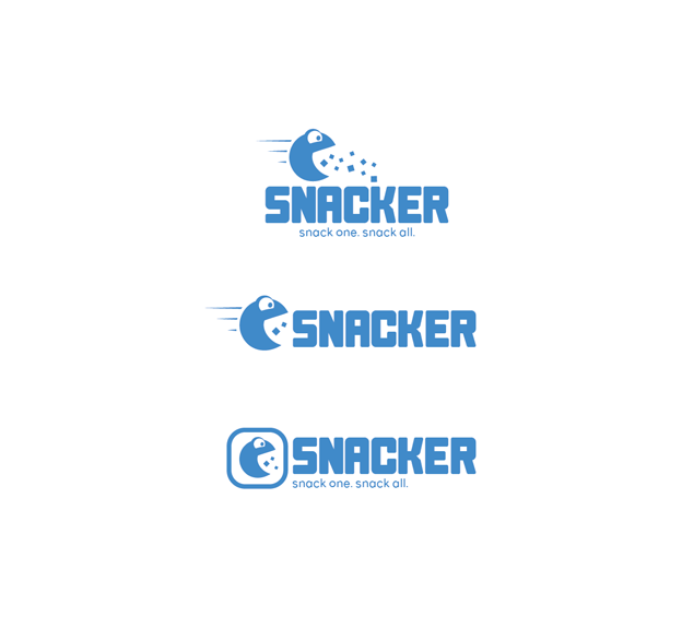 Snacker logo design