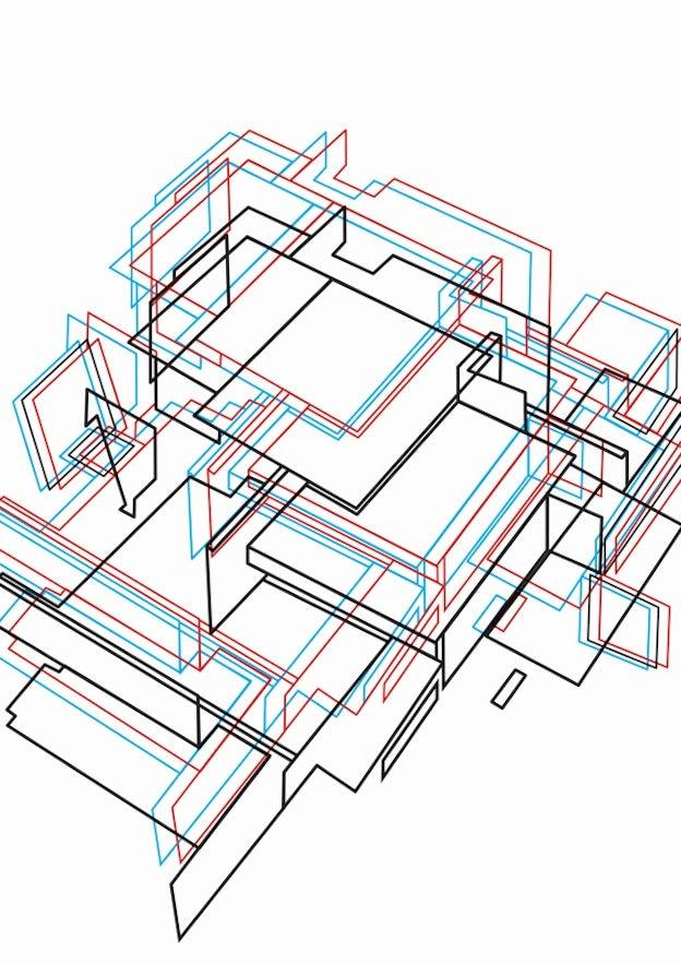 デ・ステイルにインスパイアされた3Dデザイン