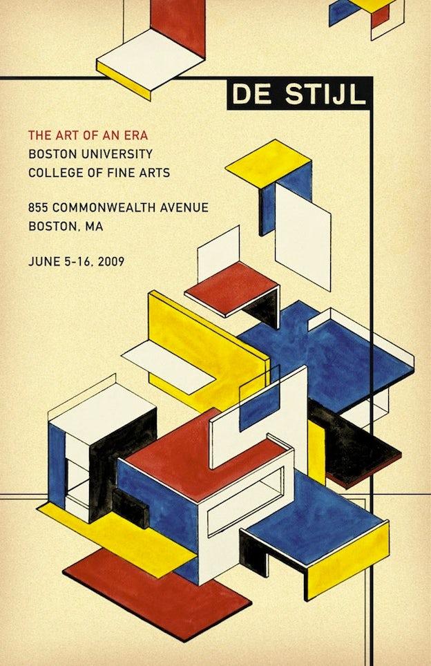 デ・ステイル展示会のポスター