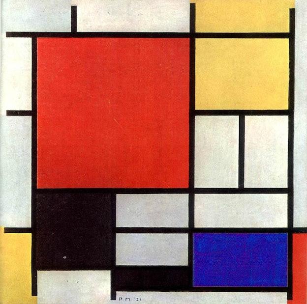 Piet Mondrianによる1921年の作品