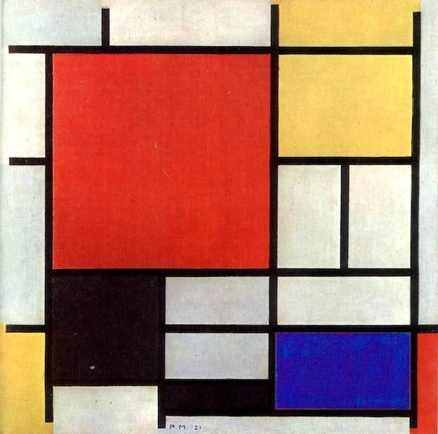 a brief visual history of the utopian de stijl movement