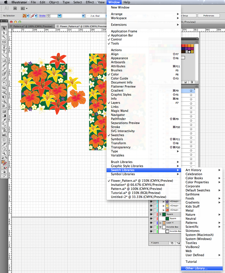 Create your own pattern swatch an easy 5 step illustrator tutorial 12 biocorpaavc Gallery
