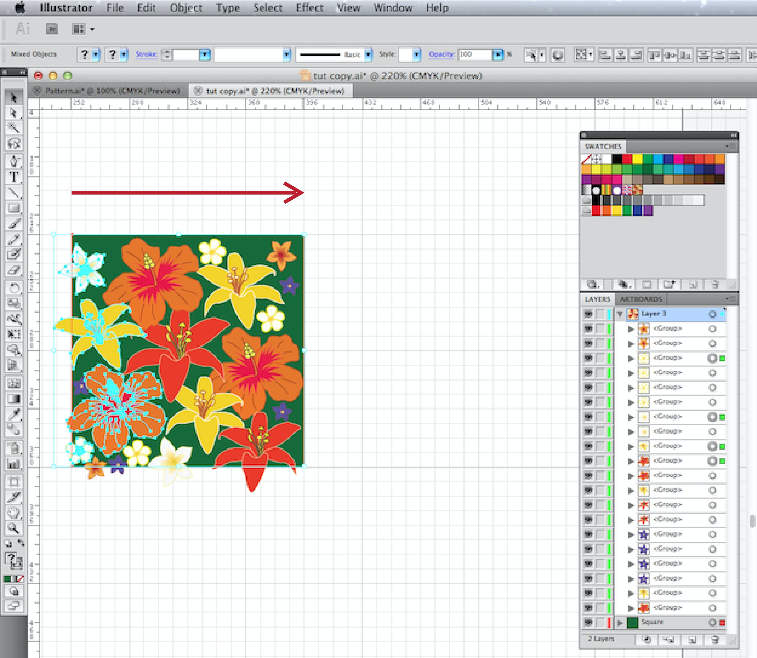 how to add a swatch in illustrator