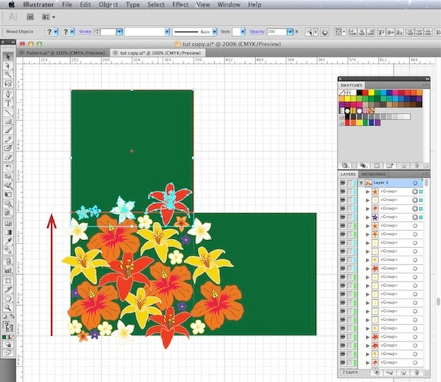 create your own pattern swatch an easy 5 step illustrator tutorial