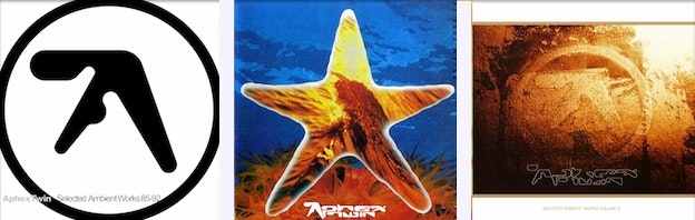 electronic music album art: aphex twin
