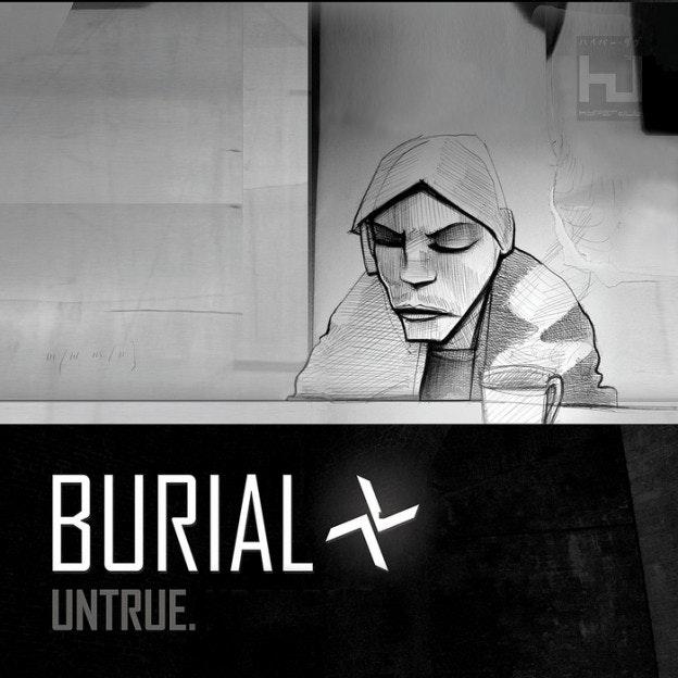 electronic music album art: burial
