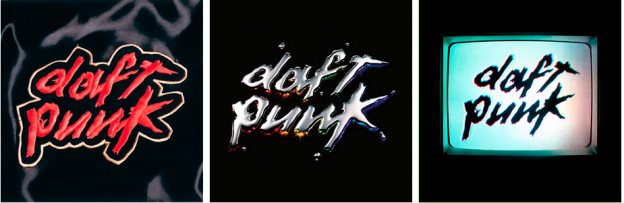 electronic music album art: daft punk