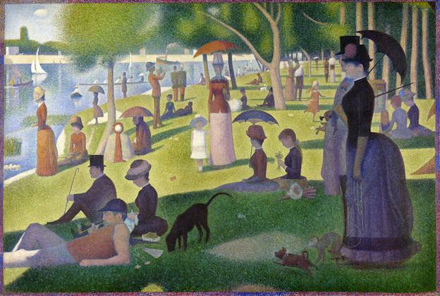 ジョルジュ・スーラ、「グランジャット島の日曜日の午後」(1884)