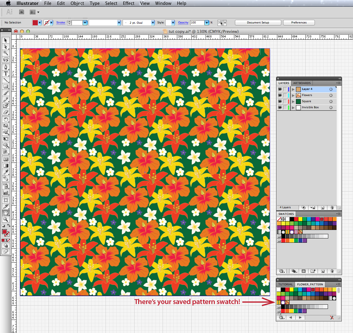 how to create swatches illustrator