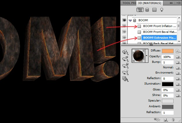 How to make a simple 3D text effect in Photoshop