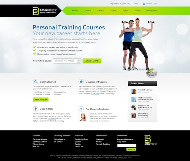 fitness website