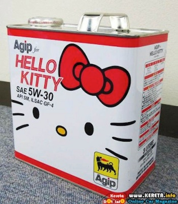 AGIP-INTRODUCE-HELLO-KITTY-ENGINE-OIL-FOR-JDM-KEICAR-ENTHUSIAST-3-350x400
