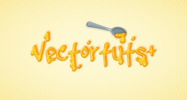Adobe Illustratorでハチミツで書いたような文字を作る