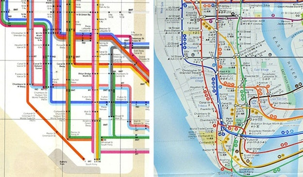 Subway Map In Manhatten.Massive Impact Design In The World S Subway Maps