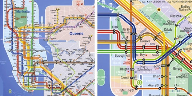 New York City Subway Map Design.Massive Impact Design In The World S Subway Maps