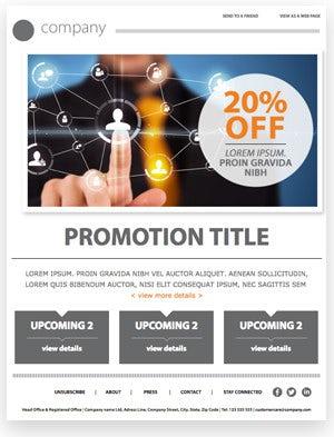promotion modèle d'email