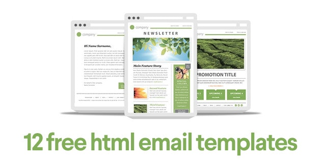 12 free email templates from professional designers