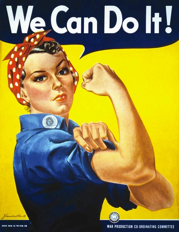 """""""We Can Do It"""" famous poster"""