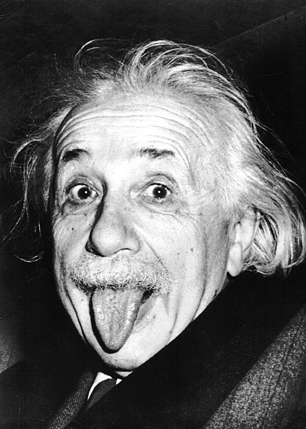 Einstein sticks his tongue out