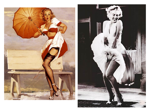 Pin up girls famous posters