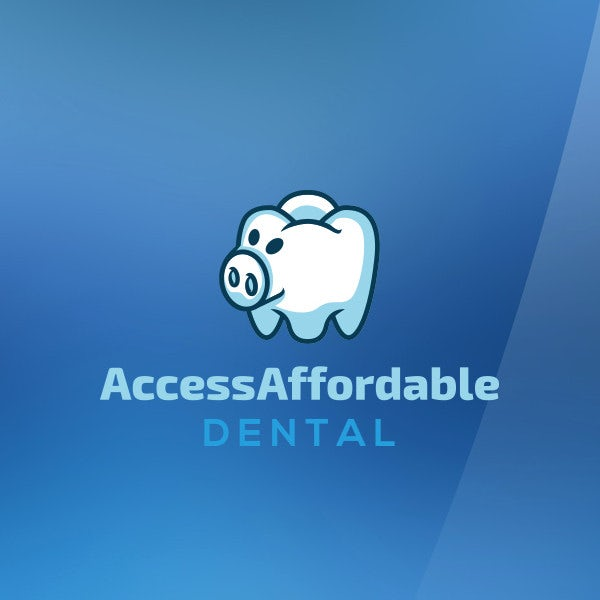 piggy bank tooth access affordable dental logo