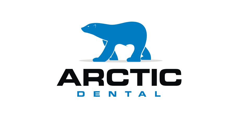 Arctic dental polar bear tooth dental logo